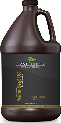 Plant Therapy Hemp Seed Carrier Oil. A base for Aromatherapy, Essential Oils, or Massage Use. 1 - Gal Base