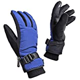 Sporting Goods : OZERO Winter Ski Gloves, Waterproof Windproof Thermal Snow Gloves - Touch Screen 3M Thinsulate Keep Warm in Cold Weather for Boys and Girls (Blue - Black)