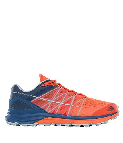North Face Ultra Vertical Trail Running Shoes Scarlet Ibis/Shady Blue