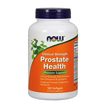 Now Foods Prostate Health Clinical Strength, 180 Softgels Pack of 3