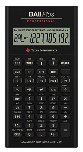 Texas Instruments IIBAPRO/TBL/1L1 BA II Plus Professional Financial Calculator