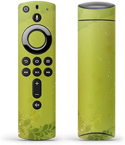 igsticker Fire TV Stick 第2世代 専用 リモコン用 全面 スキンシール フル 背面 側面 正面 ステッカー ケース 保護シール 001814 その他 花 フラワー 緑