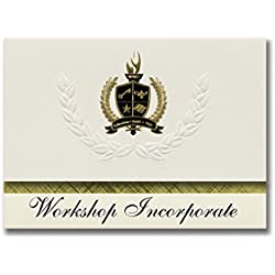 Signature Announcements Workshop Incorporate (Birmingham, AL) Graduation Announcements, Presidential style, Basic package of 25 with Gold & Black Metallic Foil seal