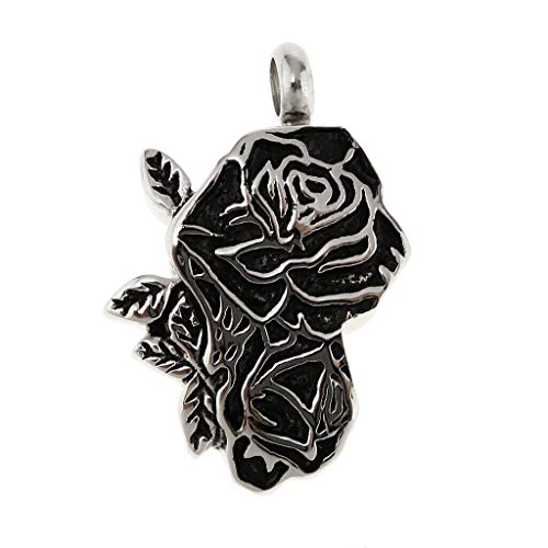 - Ashes Cremation Memorial Keepsake Vintage Stainless Steel Rose Urn Pendant Necklace Jewelry Crafting Key Chain Bracelet Pendants Accessories Best