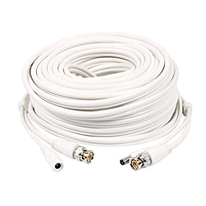 eDealMax 20M 32.8ft BNC + Video Cable de alimentación de CC y el Cable de
