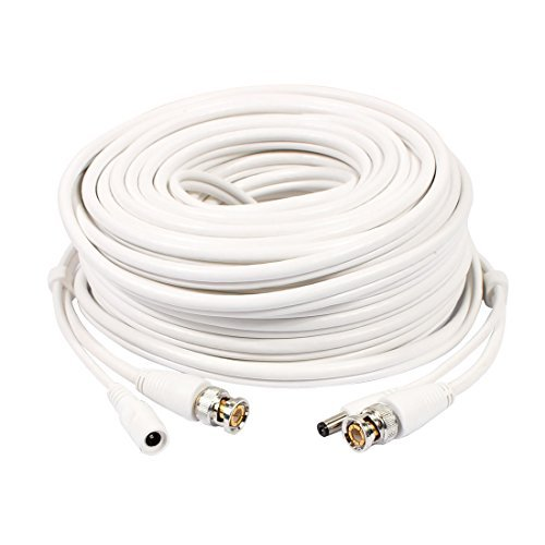 Amazon.com: eDealMax 20M 32.8ft BNC + Video Cable de alimentación de CC y el Cable de seguridad CCTV cámara de HD Blanca: Electronics
