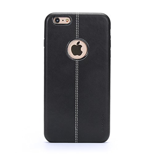 6s plus Case,iPhone 6 plus Case Slim Fit,High-grade Leather Soft Simple Cover Case for Apple iPhone 6 plus / 6S plus- Black - High Grade Leather