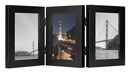 Frametory, 4x6 Inch Hinged Picture Frame with Glass Front -