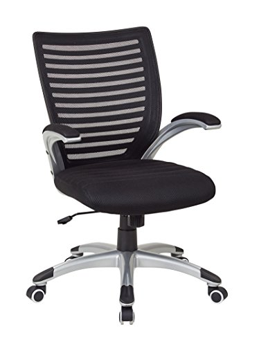 Work Smart Mesh Seat and Screen Back Managers Chair, Black by Work Smart