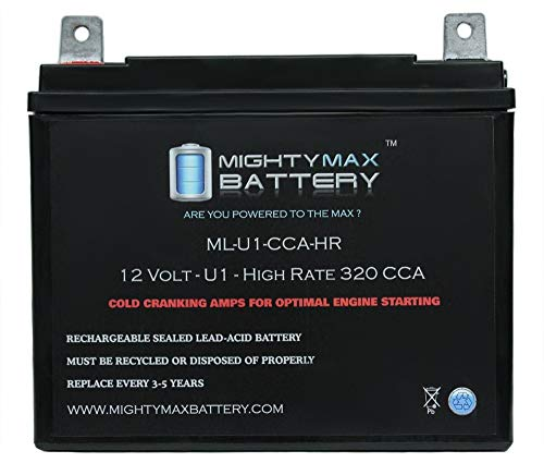 Mighty Max Battery ML-U1-CCAHR 12V 320CCA Battery for Murray Ohio 12.5HP/40 Lawn Mower Brand ()