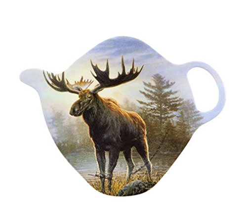 Ashdene Moose Tea Bag Holder 3 Inches High by 3 3/4 Inches Long Melamine ()
