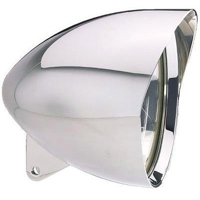 Headwinds 1-7500M 7in. Mariah Bullet Headlight Chrome Plated for Harley (Mariah Bullet)