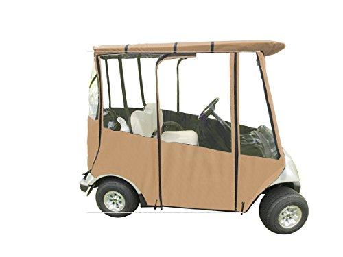 Portable Yamaha Drive Golf Cart Cover by DoorWorks (Tan) -