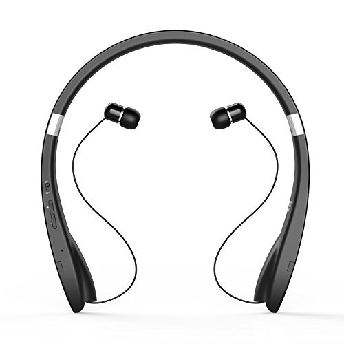 bluetooth headset bluetooth headphone wireless neckband design with retractable earbud for. Black Bedroom Furniture Sets. Home Design Ideas