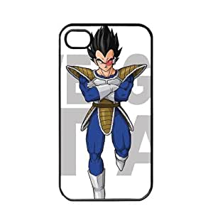 Dragon Ball Manga Comic Slim Vegeta Apple iPhone 4 / 4s TPU Soft Black or White case (Black)