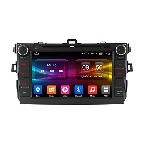 FEELDO 8'' inch Android 6.0 (64bit) DDR3 2G/32G/4G LTE Octa Core DDR3 2G/4G LTE Car DVD GPS Radio Head Unit For Toyota Corolla 2006~2011 (F4) by FEELDO