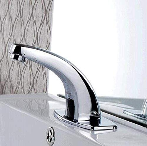 CHENBIN-BB バスルームのシンクは、スロット付き浴室の洗面台のシンクホットコールドタップミキサー流域の真鍮シンクミキサータップ非震とう浴室蛇口センサー蛇口流域の蛇口の上カウンター洗面蛇口タップ