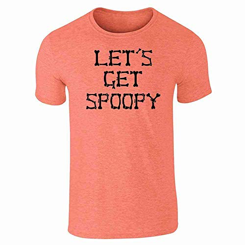 Pop Threads Let's Get Spoopy Halloween Costume Funny Memes Heather Orange M Short Sleeve T-Shirt -