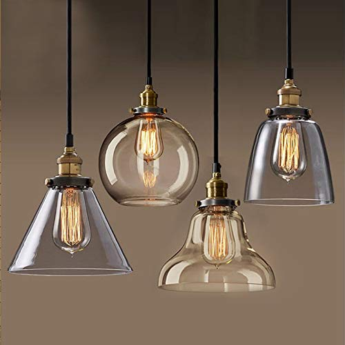 Goonpetchkrai.rapat7498 hanglamp Pendant lamp Copper Glass Restaurant Pendant Lights Vintage Lighting fixtures Suspension luminaire Antique Glass Lamps
