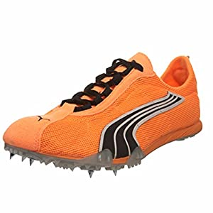 PUMA Unisex Complete TFX Harambee 3 Pro Track Spike,Fluorescent Orange Black White,US Women's 12 B/US Men's 10.5 D