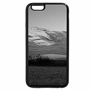 iPhone 6S Plus Case, iPhone 6 Plus Case (Black & White) - Lawrence Kansas Sunset