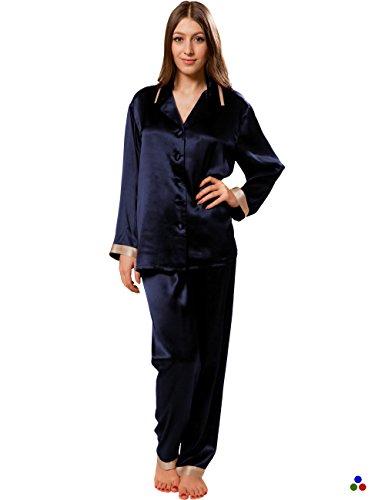 Nuit cappuccino Marine 100 Pour Soie Momme 22 Vêtement En Luxe Pyjama Ellesilk De Femme Soie qORv6618