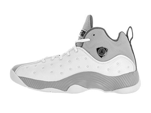 Nike Jumpman Squadra II Scarpa da Basket White/Black/Wolf Grey/Cool Grey