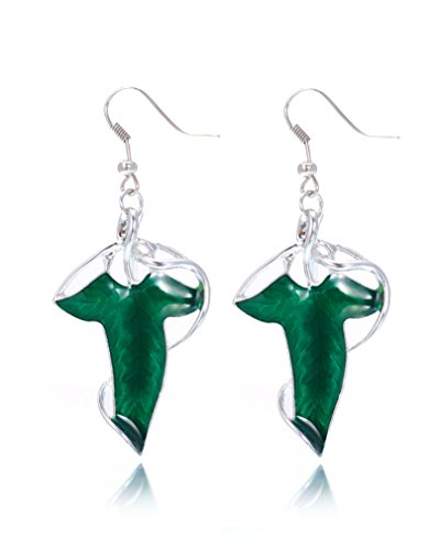 Elven Costumes Lord Of The Rings (REINDEAR The Lord of the Rings Costume Elven Leaf Pendant Earrings)