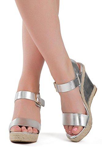 Lusty Chic , Damen Peep Toes , Silber - silber - Größe: 38