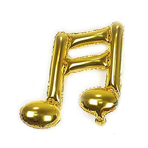 Chusea Simple Pratical Supplies Approx10Pcs Musical Note Shape Aluminum Foil Balloons Party Decoration (Foil Musical)