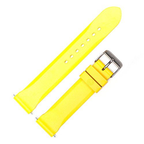 Marathon WW005006YE Divers Model Rubber Watch Band/Strap, (20 mm, Yellow)