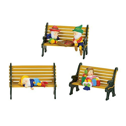Department 56 North Pole Village Elves Sitting Accessory Figurines, Multicolor (Pole 56 North Accessory)