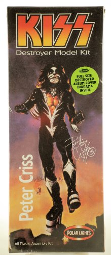 Playing Manits - 1998 - Polar Lights - KISS destroyer Model Kit - Peter Criss the Catman - All Plastic Assembly Kit - Full Size Destroyer Album Cover Diorama Inside - Out of Production - RARE - New - Limited Edition - Collectible