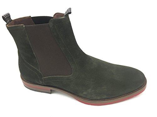 Floris van Bommel Herren Chelsea Boots Grün