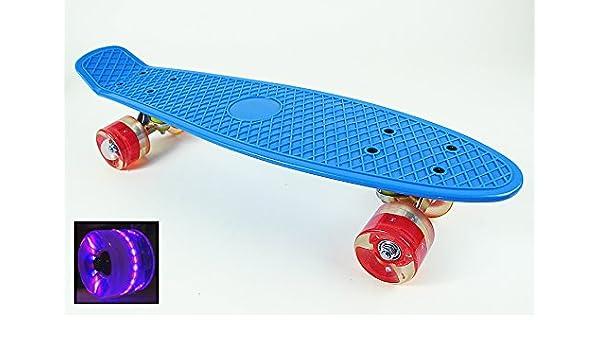 "Sports Cruiser 22/"" white Penny Style Skateboard w LED Light Board /& Wheels"