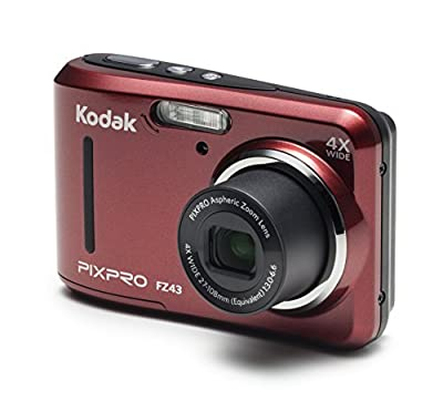 """Kodak PIXPRO Friendly Zoom FZ41 16 MP Digital Camera with 4X Optical Zoom and 2.7"""" LCD Screen (Red) from KODC1"""