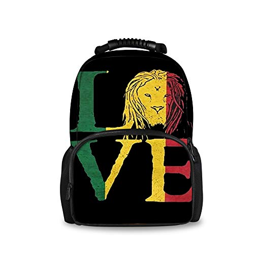 Purse Quilted Traveler Handbag (JACINTAN Rasta Lion Jamaican Reggae Love Printed Children School Bags Blue Kids Big Backpack)