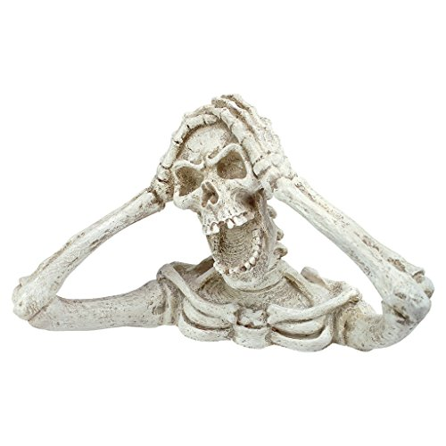 Design Toscano Shriek the Skeleton Statue: Medium - Zombie Statue - Halloween -