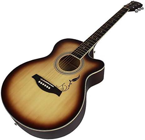 軽やかで安定したギター 40インチ初心者の学生のためのフォークギターのサンセットカラーユニバーサル音源ギター 持ち運びや収納に便利です (色 : Natural, Size : 41 inches)