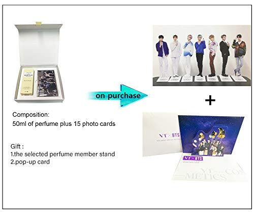 VT X BTS L'ATELIER des SUBTILS Perfume 50ml + 15 BTS Photo Cards + A Random BTS Member Standee (Eau d'Océan (JK))