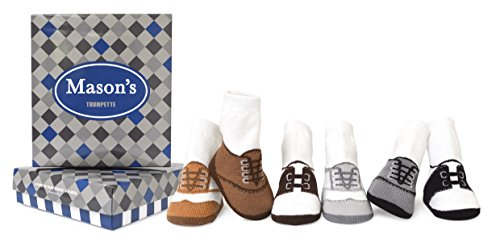 Trumpette Baby Boys' Newborn Coltons Socks, Mason's - Assorted Neutrals, 0-12 Months