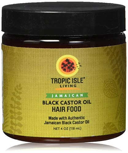 Tropic Isle Living Jamaican Black Castor Oil Hair Food (4oz) (Best Hair Dye For African American Men)