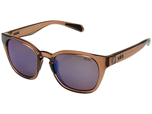 Zeal Optics Unisex Windsor Camel/Polarized Horizon Blue Lens One Size