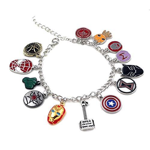 [해외]Geraffely アベンジャ?ズ 팔찌 코스 프레 용품 쥬얼리 마블 만화 여성 남성 학원 축제 영화 케이크 장식 / Geraffely Avengers Charm Bracelet Cosplay Tools Jewelry Marvel Comics Women Men`s School Festival Movie Toy Decoration