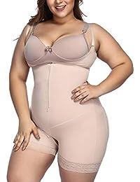 b347806a5b9a0 Women s Plus Size Firm Control Shapewear Open Bust Bodysuit Body Shaper