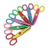 Kids Shears Colorful Decorative Paper Lace Edge Scissor Set for Teachers Crafts Scrapbooking 6Pcs