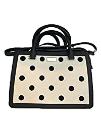 Kate Spade WKRU4284 241 Lise Bixby Place Black Polka Dot Satchel Crossbody Purse