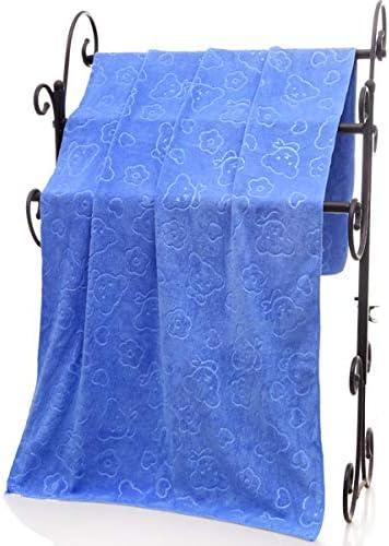 GHiycotdl Hondenhanddoek microvezel sneldrogende hondenbadhanddoek hondendrooghanddoeken absorberende handdoek geschikt voor kleine en middelgrote honden kattenpuppys140x70cm donkerblauw
