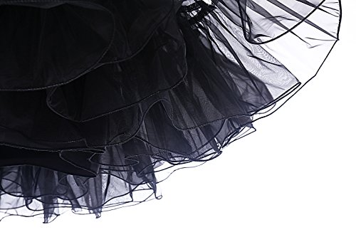 DRESSTELLS Women's Vintage Rockabilly Petticoat Skirt Tutu 1950s Underskirt