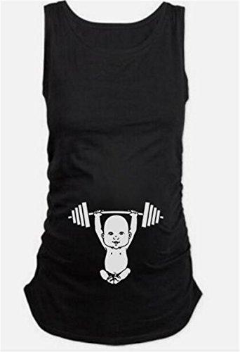 Donne Tops Casual Maglietta Pregnancy Donne Camicetta Premaman Estivi Maniche Shirt Canotta Prenatal T Camicetta Senza Elegante Maternity Nero AILIENT Maternity Incinta aZwXw